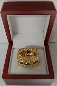 Ray Lewis - 2000 Baltimore Ravens Super Bowl Custom Ring WITH Wooden Box