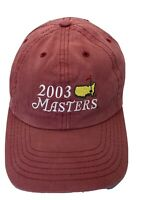 2003 Masters Golf Adjustable Adult Baseball Cap Hat Strap-back Red Salmon Z915A