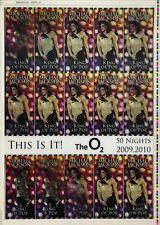 This Is It! Uncut 2009 Lenticular Concert Ticket Sheet Form 2,2A Michael Jackson