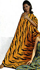 Vintage Knitting pattern-how to make a tiger skin,zebra stripe throw,afghan