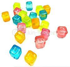 40 Riutilizzabile Ice Cube in plastica diversi colori Congelatore BEVANDA COOLER PARTY 5A