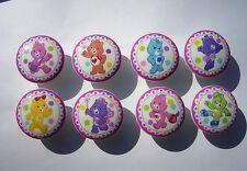 8 NEW STYLE CARE BEAR DRESSER DRAWER  KNOB GIRLS  KIDS  MADE AS ORDERED