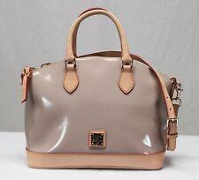 Dooney & Bourke Oyster Patent Leather Dome Satchel Handbag Purse