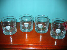 Cutty Sark 4 Glass Tumblers with Pewter Ship Portrait! Excellent Price per each