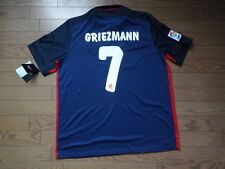 Atletico Madrid #7 Griezmann 100% Original Jersey Shirt XL 2015/16 Away NWT Rare