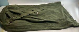Academy Military Canvas Backpack Rucksack Hiking Travel Duffle Bag Army Green