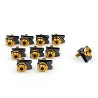 10 x Verkleidung Schrauben M5 5mm Aluminium Spire Federklemmen Nüsse Gold BS7 B7