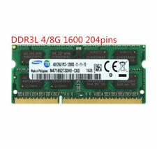 Samsung 4G 8GB DDR3L 1600MHz PC3L-12800S 2RX8 1.35V 204pin SODIMM Laptop Memory