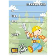 Amscan BOB THE BUILDER PARTY INVITATIONS With Envelopes 20 Pk Invites Kids Party