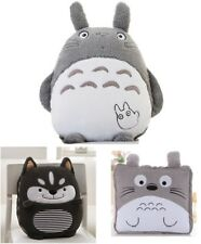Husky Totoro Plush Soft Hold Foldable Throw Blanket Pillow Cushion