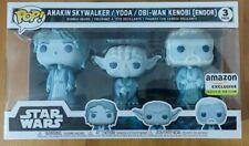 Funko Pop 3 Pack Anakin Skywalker / Yoda / Obi-Wan Kenobi (Endor) Glow Star Wars