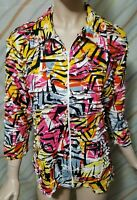 """""""SNO SKINS"""" women's Size XL Jacket Full Zip Long Sleeve Multicolored.PRE-OWNED"""