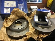 genuine peugeot 605 rear discs  4246K9 290mm diameter complete with brake pads