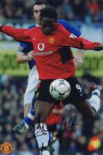 Louis Saha, Manchester United, Man Utd, France, signed 7.5x5.0 inch photo. COA.