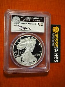 2011 W PROOF SILVER EAGLE PCGS PR70 DCAM FS MERCANTI FROM 25TH ANNIVERSARY SET