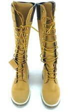 "Timberland Premium 14"" Wheat Nubuck Waterproof Lace-up Boots Size 6 M Tan"