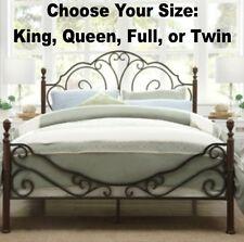 King Queen Full Twin Bronze Iron Bed Frames Bedroom Furniture Frame Headboard