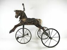 RARE & ORIGINAL 19th CENTURY CHILDS HORSE TRICYCLE C 1870'S, NOT ROCKING HORSE.
