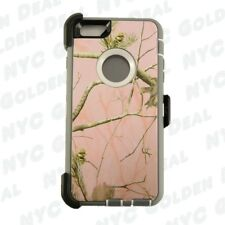 Pink Tree For Apple iPhone 6S Plus Defender Case w/ Belt Clip fits Otterbox