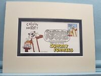 Calvin & Hobbes - Famous Sunday Funnies Comic Strip & its own First Day Cover