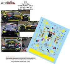 RALLYE DE WALLONIE 2015 D43392 #28 DECALS 1//43 SKODA FABIA WRC MOTTET