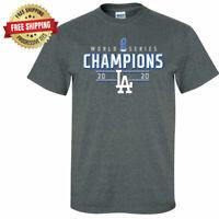 Los Angeles Dodgers 2020 World Series Champions T-Shirt - Dark Heather