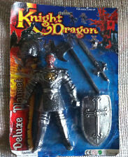 """VINTAGE KNIGHT & DRAGON DELUXE PLAYSET 9"""" BEARDED KNIGHT MOC STYLE #1 FUN-TASTIC"""