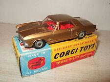 Rare Vintage Corgi Jouets 245 Buick Riviera avec Transparent o Lite Lampes &