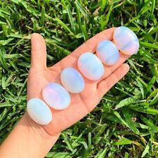 Opalite Crystal Healing Meditation Oval Palm Pocket Energy Worry Stone