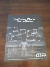 "1979 Vintage PRINT Ad STAGE MICRO SERIES AMPS ""THE EASIEST WAY TO GET ON STAGE"""