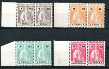 PORTUGUESE INDIA , 1922 , scarce HIGH DEFINITIVES 1Rp - 5 Rp. PAIRS ! MNH !