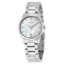 Gucci G-Timeless Mother of Pearl Diamond Dial Ladies Watch YA126542