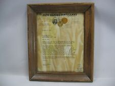 Vtg Jack Daniel Distillery Tennessee Squire Initiation Letter Wall Art Man Cave!