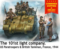 Master Box 35164 - 1/35 - US Paratroopers & British Tankman France 1944