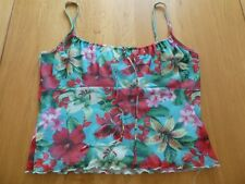 OASIS Floral Summer String Strap Sun Top Size 16