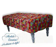 """Pouf modello """"MultiColore"""". Pof, Puf, Pouff. Seduta confortevole. 43 x 126 cm"""