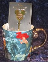 Disney Designer Fairytale Doll D23 Collection Ariel and King Triton Mug W/ Spoon