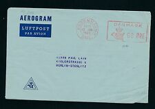 04338) Dänemark  Aerogramme meter 60 Öre 1960, Zudruck > Berlin