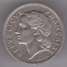 FRANCIA 10 FRANCHI 1935 nichel Coin-Laureate Testa