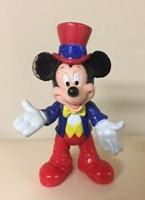 """Disney Epcot Center 3.75"""" Posable Mickey Mouse Toy Figure Figurine Cake Topper"""