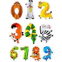 LD_ AC_ EG_ BA_ ANIMAL NUMBER FOIL BALLOONS KIDS PARTY BIRTHDAY WEDDING DECOR