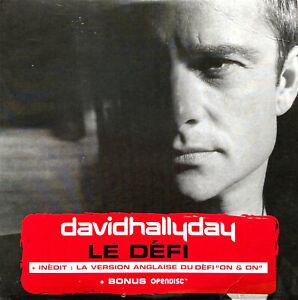 David Hallyday CD Single Le Défi - France (VG+/G)