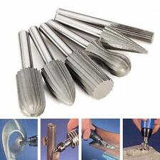 6 Pcs 6mm Shank Tungsten Steel Rotary File Cutter Engraving Grinding Bit Tools