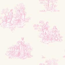 Amour rose traditionnel toile de jouy fond d'écran 204216