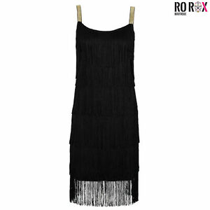 Ro Rox Great Gatsby 1920's Cocktail Party Tassel Fringe Flapper Dress & Headband