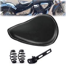 "3"" Leather Spring Solo Bracket Seat For Motorcycle Harley Chopper Bobber Custom"