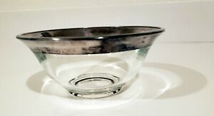 Antique Dorothy Thorpe SALAD  BOWL Modern Mid Century Sterling Silver FLARED