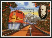 Mali Trains Stamps 1996 MNH Superchief Rudolf Dielsel Railways Rail 1v S/S IV