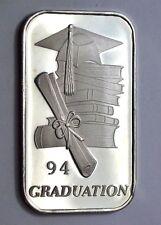 1Troy oz.999 Fine Silver Bar 1994 Graduation Year