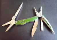 Outdoor Stainless Steel 10in1 Knife Scissors EDC Multi Tool MPA29 Medium Green